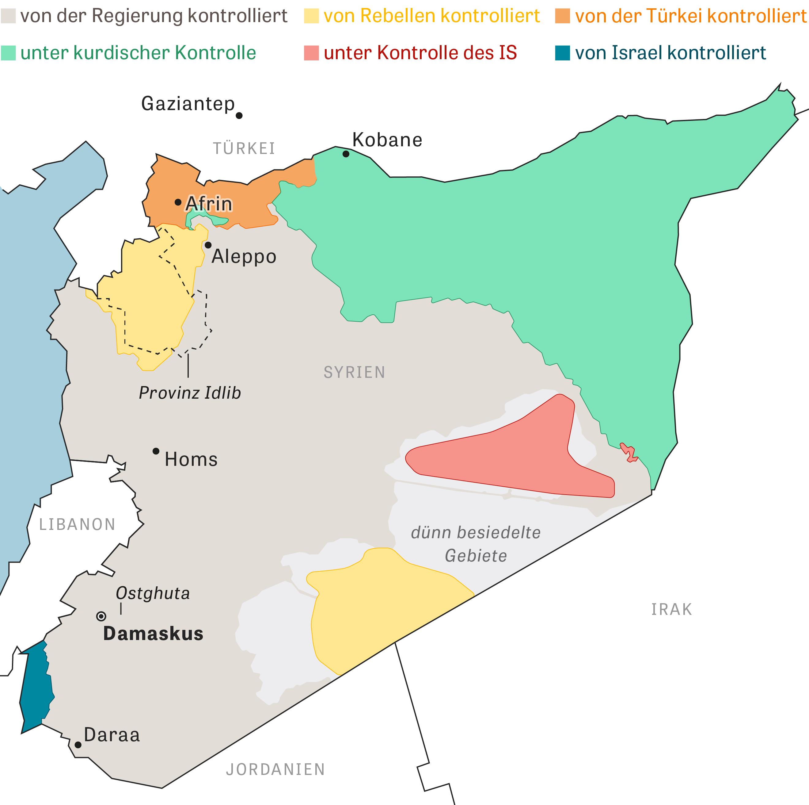 Die Situation in Syrien