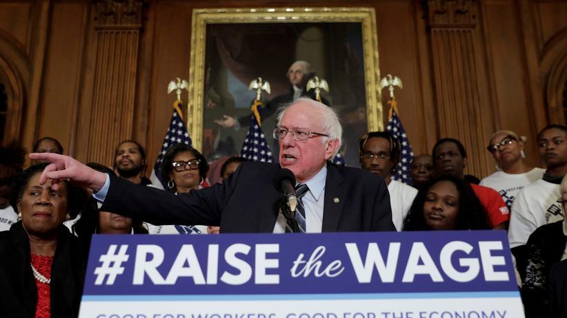 Bernie Sanders: Gilt mit seinen linken Ideen als Sozialist: Bernie Sanders im Januar bei einer Veranstaltung im Capitol in Washington.