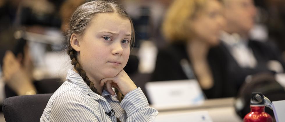 Klimaschutz : Aktivistin Thunberg fordert von EU ehrgeizigere Klimaziele
