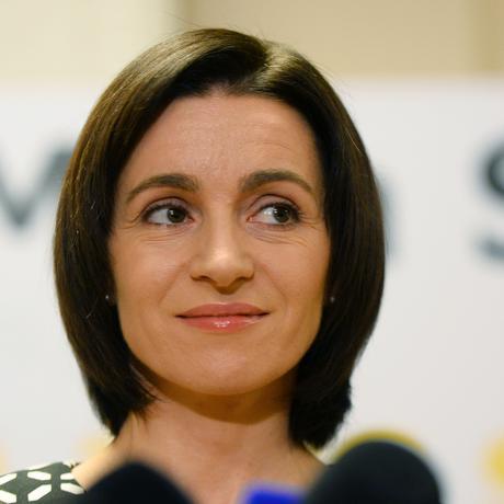 Die Oppositionskandidatin Maia Sandu