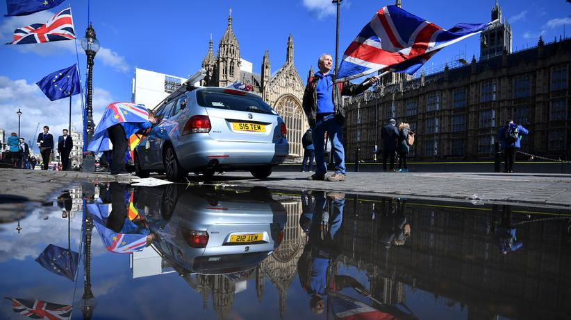 Brexit: Anti-Brexit-Protest vor dem Parlament in London