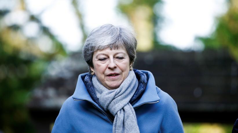 Brexit: Die britische Regierungschefin Theresa May auf dem Weg zur Kirche am Sonntagmorgen.