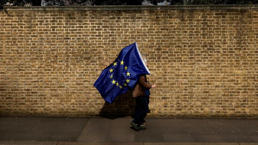 Großbritannien: Ein Brite demonstriert gegen den geplanten Austritt Großbritanniens aus der EU.
