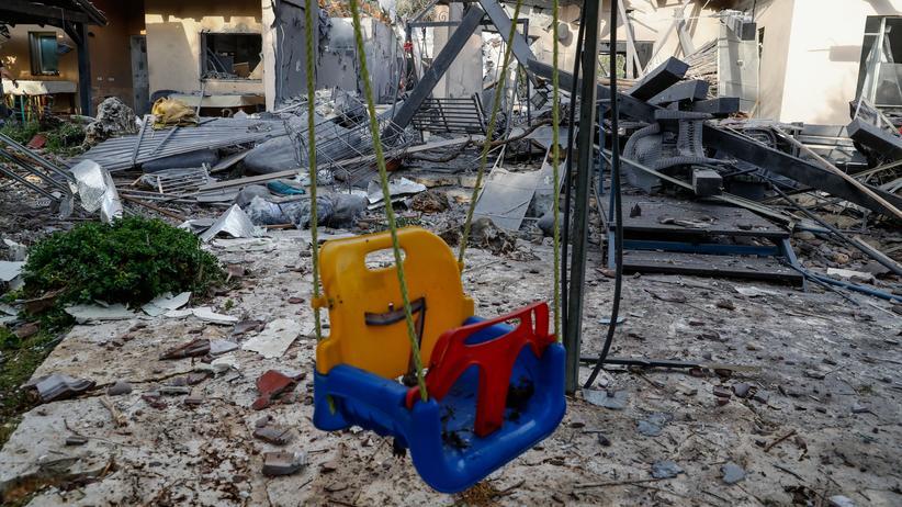 Israel: Das von einer Rakete zerstörte Haus in Mischmeret