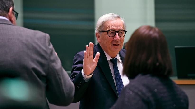 Treffen in Brüssel: EU-Kommissionspräsident Jean-Claude Juncker bei seiner Ankunft auf dem Gipfel in Brüssel