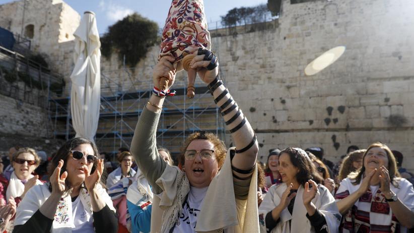 Jerusalem: Ein Mitglied der Gruppe Frauen der Klagemauer