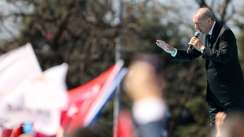 Türkei: Der türkische Präsident bei einer Kundgebung in Zonguldak