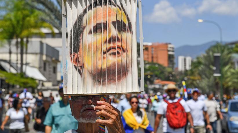 Venezuela: Guaidó-Unterstützer auf einer Demonstration am Montag in Caracas