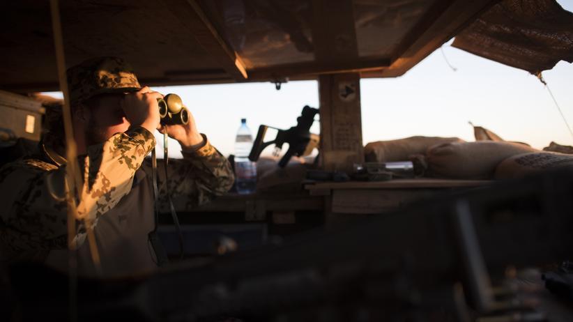 Bundesregierung: Ein Bundeswehrsoldat in einem Camp der UN-Mission Minusma in Mali