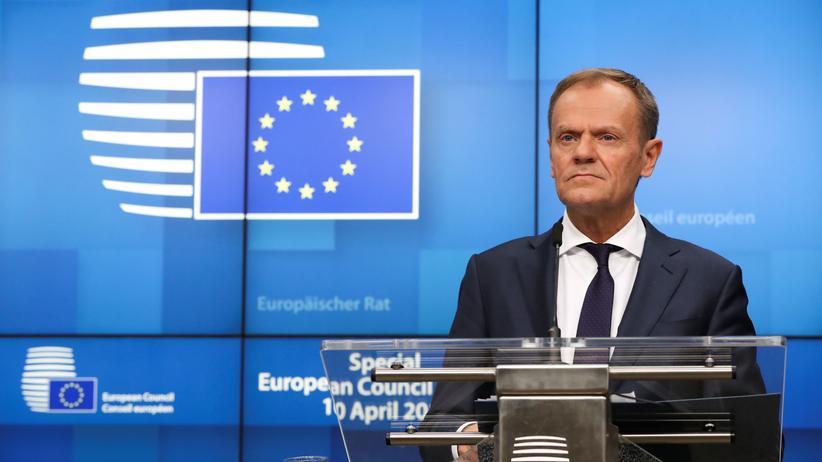 Brexit: EU-Ratspräsident Donald Tusk nach der Entscheidung