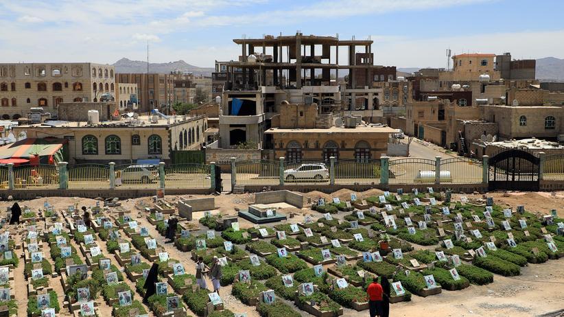 UN-Beobachter: Ein Friedhof in Sanaa, der Hauptstadt Jemens