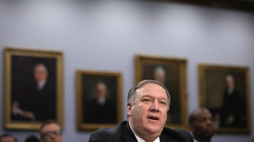 Mike Pompeo: US-Außenminister Mike Pompeo, hier bei einer Anhörung in Washington D.C., kommt schon zum zweiten Mal nicht zu einem G7-Treffen.