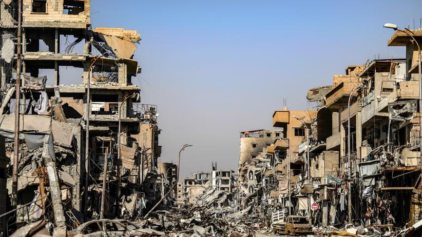Nordsyrien: Ruinen in Rakka (Bild vom Oktober 2017, zum Ende der Militäroffensive)