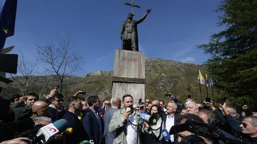 Spanien: Vox-Chef Santiago Abascal bei seinem Wahlkampfauftakt am Wochenende