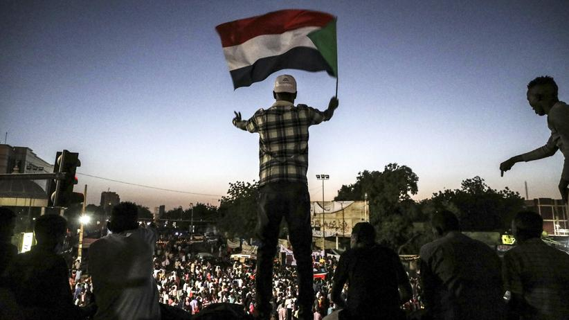 Sudan: Demonstranten in Sudans Hauptstadt Khartum.