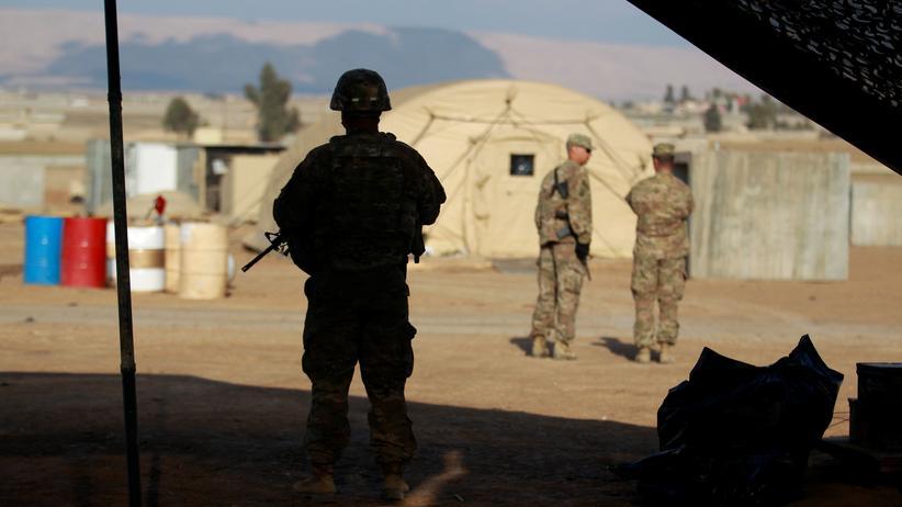 Navy Seals: An der US-Militärbasis nördlich von Mossul im Irak (Foto von 2017)