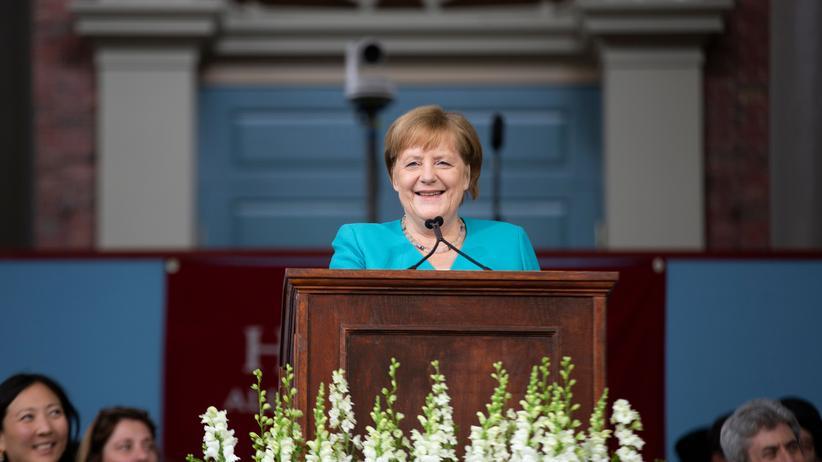Harvard-Rede: Angela Merkels weltoffener Abschiedsgruß