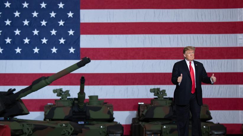 Donald Trump: US-Präsident Donald Trump während eines Auftritts in einer Panzerfabrik in Lima, Ohio