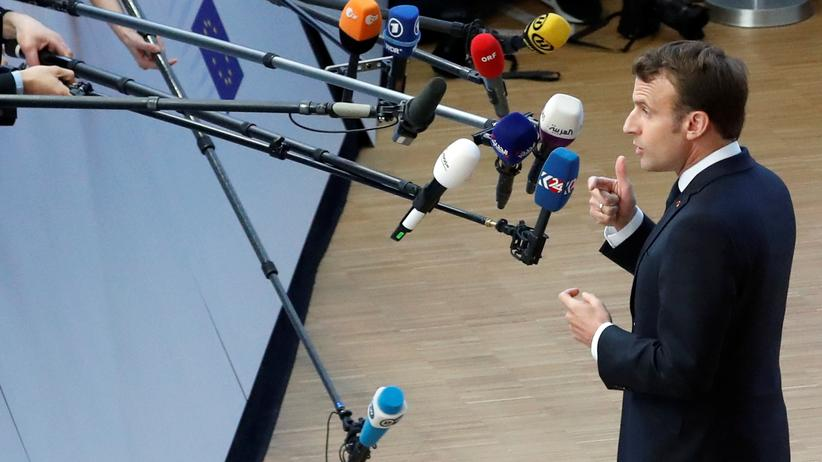 La République en Marche: Der französische Präsident Emmanuel Macron im April in Brüssel
