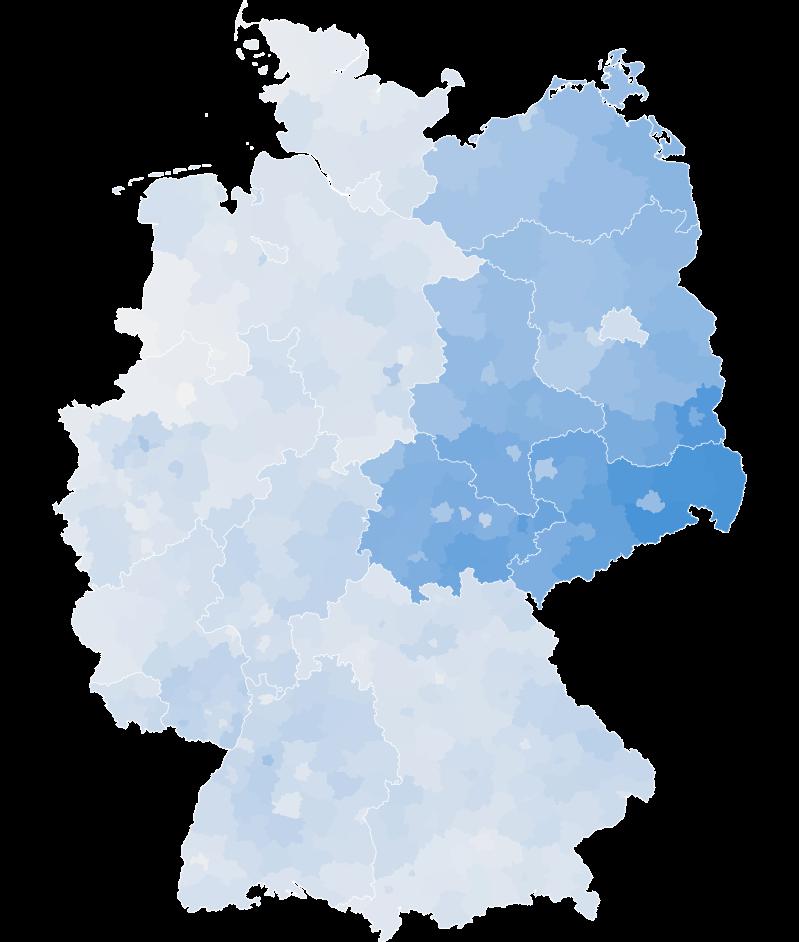 Wahlergebnis in Ostdeutschland