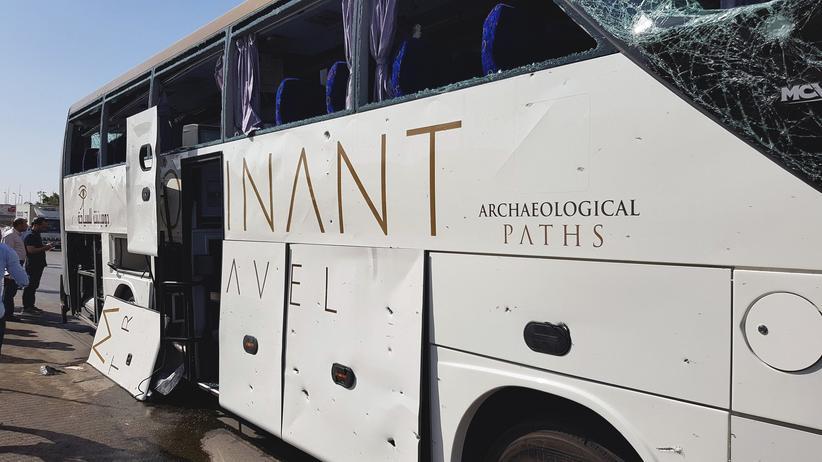 Ägypten: Der angegriffene Touristenbus in der Nähe der Gizeh-Pyramiden