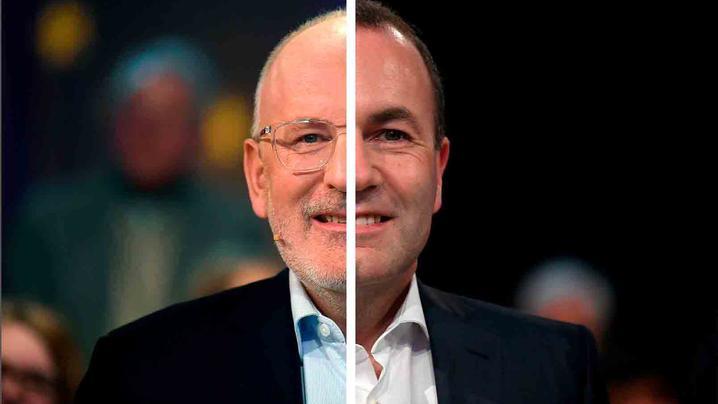 Manfred Weber gegen Frans Timmermans: Frans Timmermans oder Manfred Weber? Das ist bei der EU-Wahl am Sonntag ebenfalls die Frage