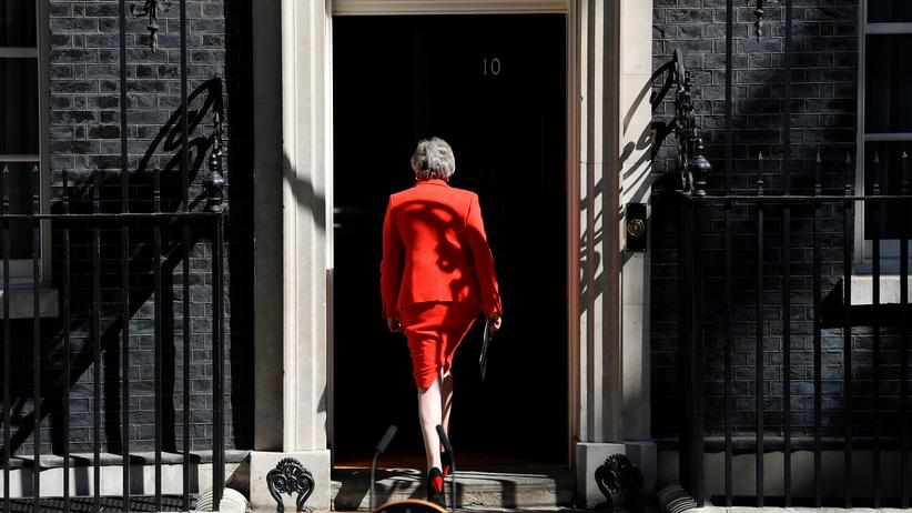 Rücktritt von Theresa May: British Prime Minister Theresa May leaves after delivering a statement in London, Britain, May 24, 2019.