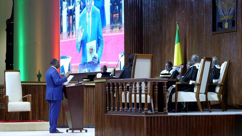 Westafrika: Der senegalesische Präsident Macky Sall bei seiner Vereidigung im April 2019
