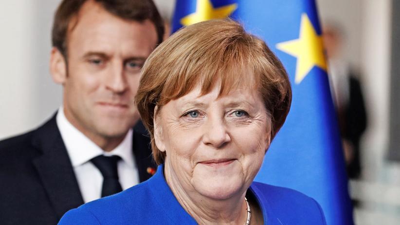 Bundeskanzlerin: Angela Merkel und Frankreichs Präsident Emmanuel Macron Ende April in Berlin