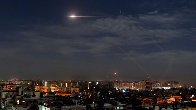 Damaskus: Geschosse über Damaskus (Archivbild)
