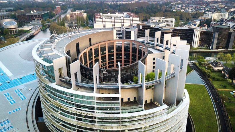 EU-Parlament: Blick auf das EU-Parlament in Straßburg