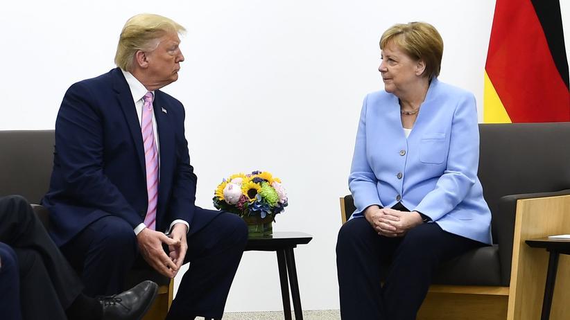 "Osaka: Donald Trump lobt ""grandioses"" Verhältnis zu Angela Merkel"