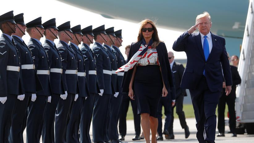 Großbritannien: Donald Trump zu Staatsbesuch in London eingetroffen