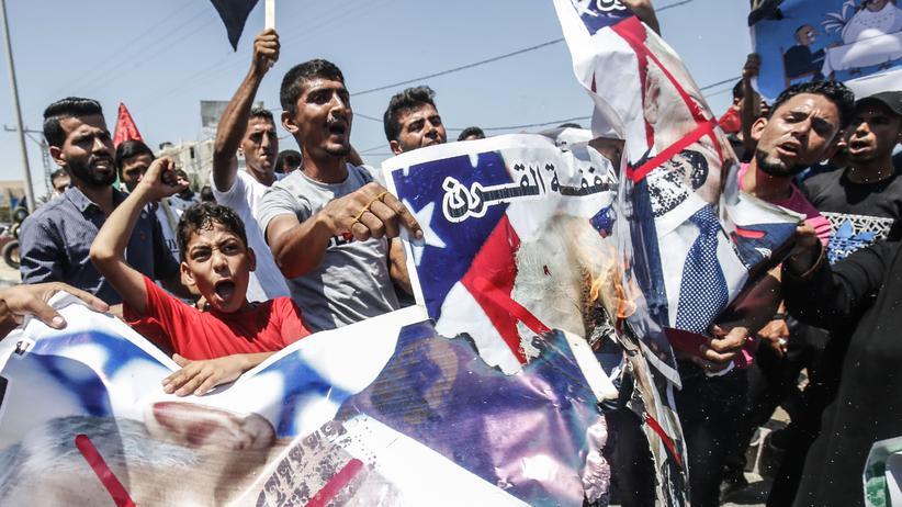 Nahost: Palästinensischer Protest gegen die Nahost-Wirtschaftskonferenz der USA im Gazastreifen