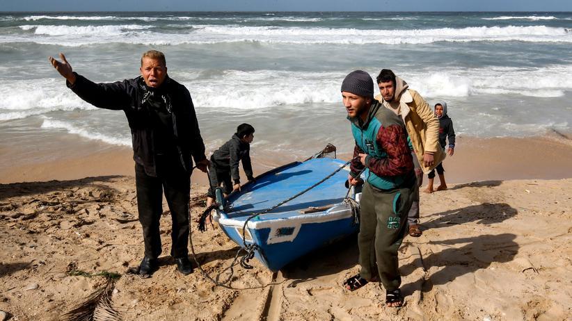 Gazastreifen: Palästinensische Fischer an der Küste des Gazastreifens