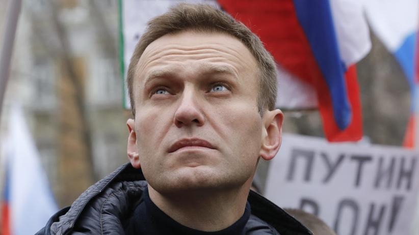 Russland: Alexej Nawalny im Februar 2019 bei einer Demonstration in Moskau (Archivbild)