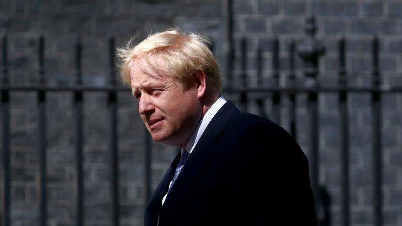 Boris Johnson: Der britische Premier Boris Johnson vor seinem Amtssitz in London
