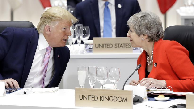 Diplomatie: US-Präsident Donald Trump und Großbritanniens Premierministerin Theresa May beim G20-Gipfel Ende Juni im japanischen Osaka.
