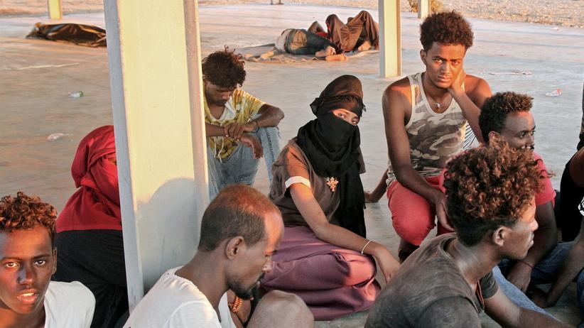 Flüchtlinge Libyen Migranten Rettungskräfte