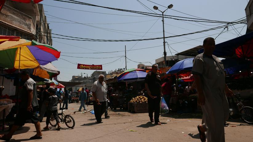 Gazastreifen: Auf dem Markt in Gaza-Stadt