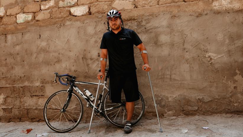 Gazastreifen: Der Radsportler Alaa al-Daly
