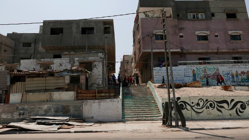 Gazastreifen: Eine Straße in Gaza-Stadt