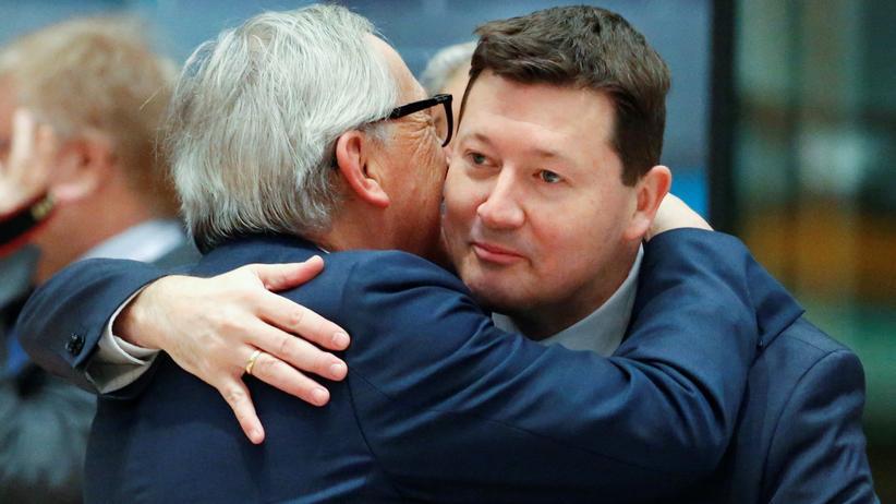 Martin Selmayr: Jean-Claude Juncker mit Generalsekretär Martin Selmayr