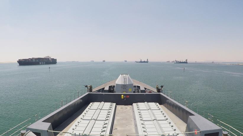"""Iran: Das Kriegsschiff HMS """"Duncan"""" der Royal Navy soll britische Handelsschiffe in der Straße von Hormus schützen."""