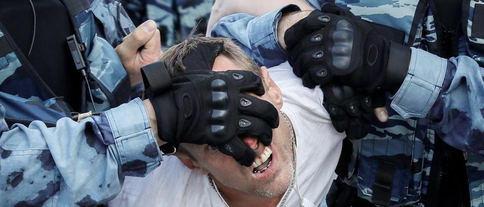 Demonstrationen in Moskau: EU kritisiert Vorgehen der russischen Polizei in Moskau