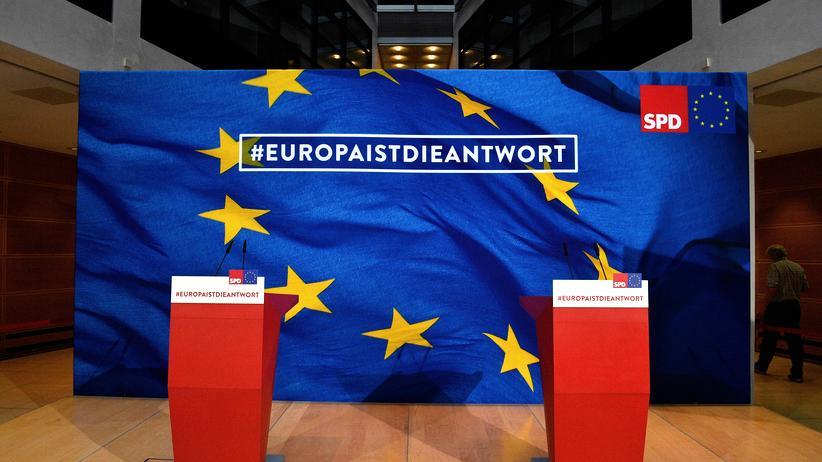 SPD in Europa: Die SPD-Zentrale am Wahlabend der Europawahl am 26. Mai 2019