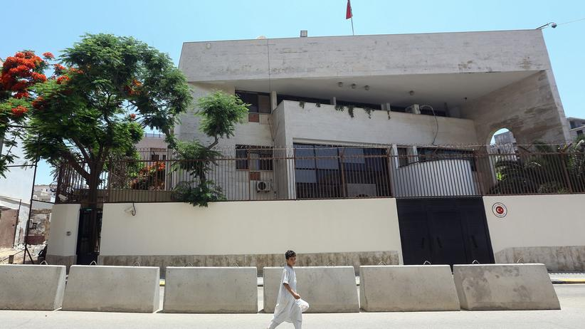 Chalifa Haftar: Die türkische Botschaft in Libyens Hauptstadt Tripolis, 30. Juni 2019