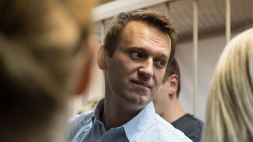 Russland: Kreml-Kritiker Alexej Nawalny bei einer Anhörung 2014.