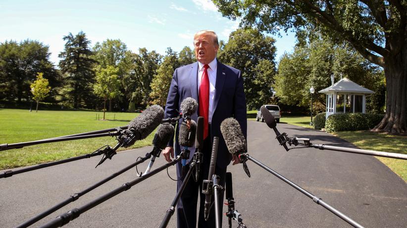 USA: Donald Trump in Washington kurz vor seiner Europareise