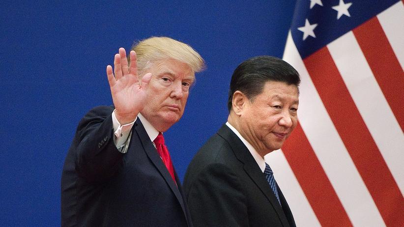 Proteste in Hongkong: US-Präsident Donald Trump bei einem Treffen mit seinem chinesischen Amtskollegen Xi Jinping im November 2017